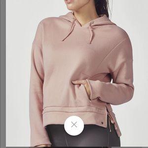 NWT fabletics rayna hoodie sweatshirt blush pink